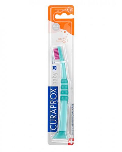 Baby Toothbrush green-pink